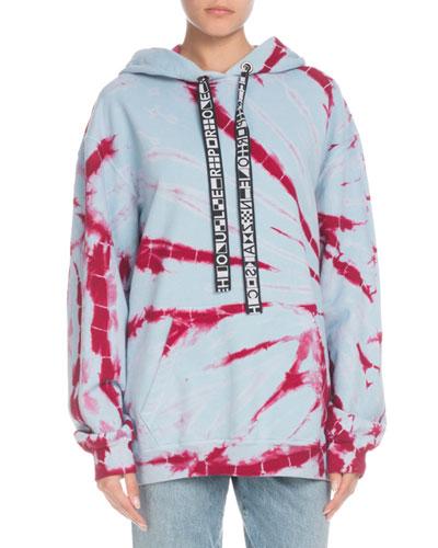 Hooded Tie-Dye Pullover Sweatshirt