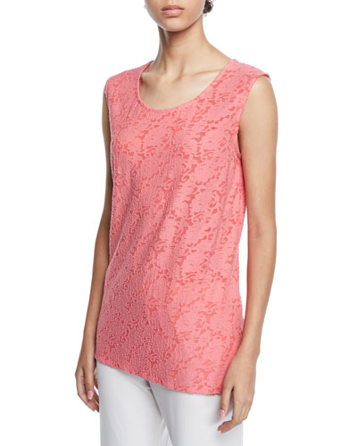 Petite Rose Garden Scoop-Neck Longer Tank
