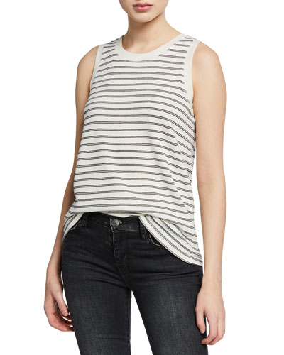 347feb1adbe59 Quick Look. Current Elliott · The Easy Striped Crewneck Muscle Tank