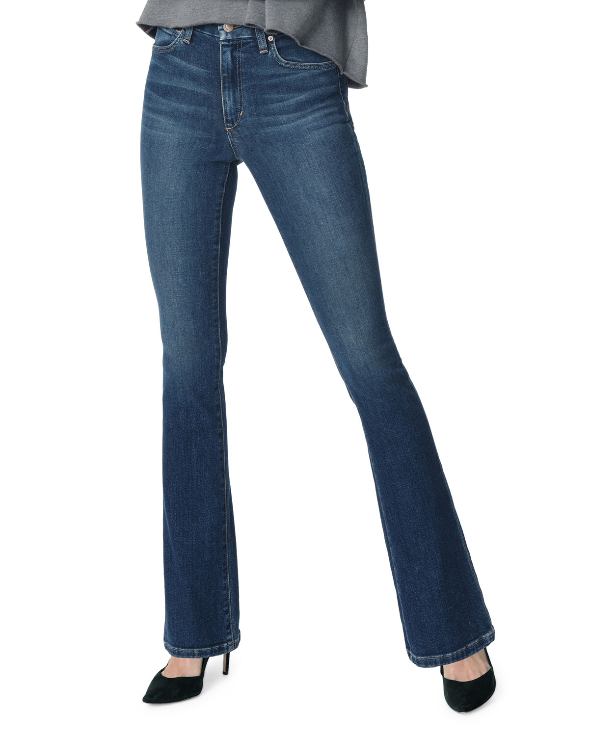 JOE'S JEANS The High-Rise Honey Boot-Cut Jeans in Blue