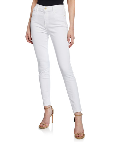 FRAME Le High High-Rise Ankle Skinny Jeans