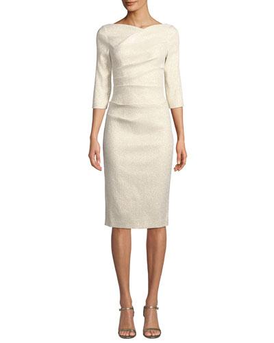 7a6c7d09cf8 3 4 Sleeve Sheath Dress