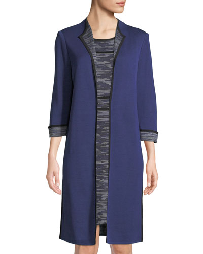 Petite 3/4-Sleeve Long Jacket