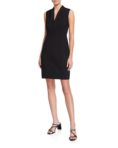 Annabel Sleeveless V-Neck Shift Dress