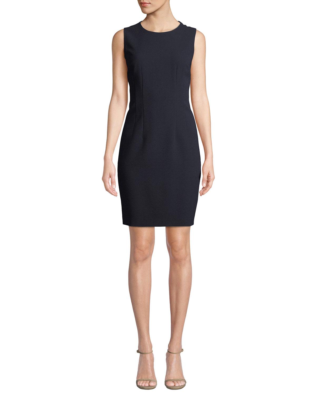 Elie Tahari Dresses TERA SLEEVELESS JEWEL-NECK SHIFT DRESS
