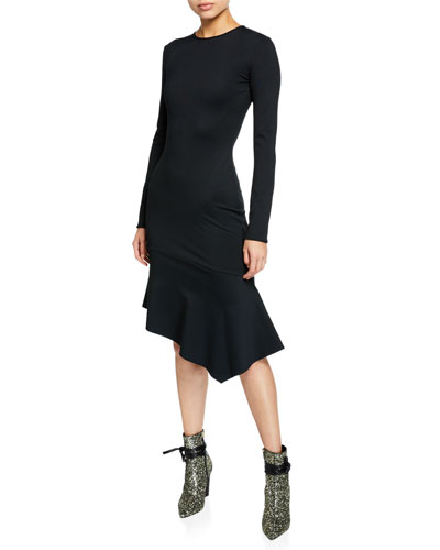 707bc27f386 Black Crepe Dress