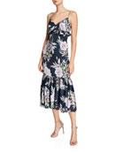 Jill Jill Stuart Floral-Print Sleeveless Midi Dress with