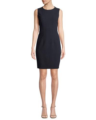 Tera Sleeveless Jewel-Neck Shift Dress