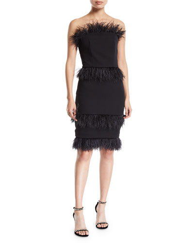 d785727887 Quick Look. Elliatt · Coco Strapless Crepe Cocktail Dress w  Feather Trim.  Available in Black