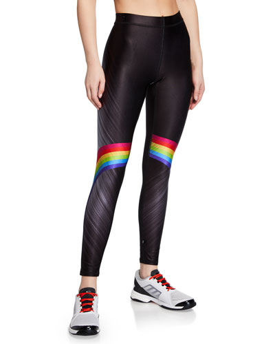 f49eb7973079a Quick Look. Terez · Rainbow-Print High-Rise Performance Leggings. Available  in Black Pattern