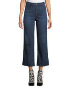 3x1 Joni Wide-Leg High-Rise Cropped Jeans