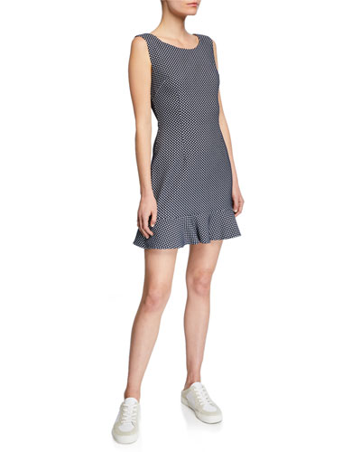 Below Deck Sleeveless Woven Dot Dress