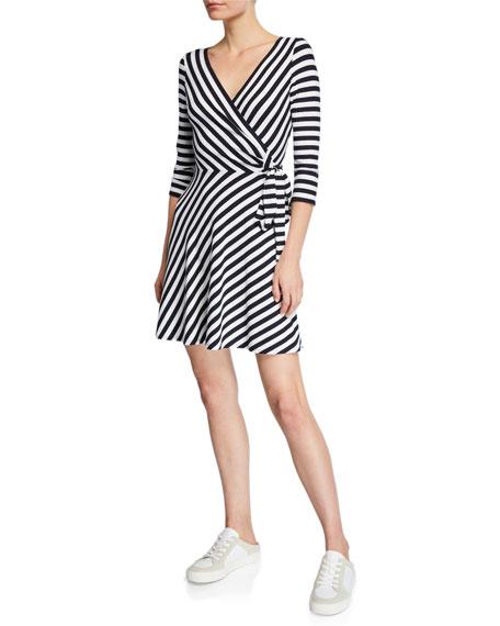 Bailey 44 Faux-Wrap Striped Dress