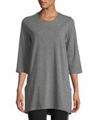 Eileen Fisher Half-Sleeve Jersey Tunic w/ Pockets