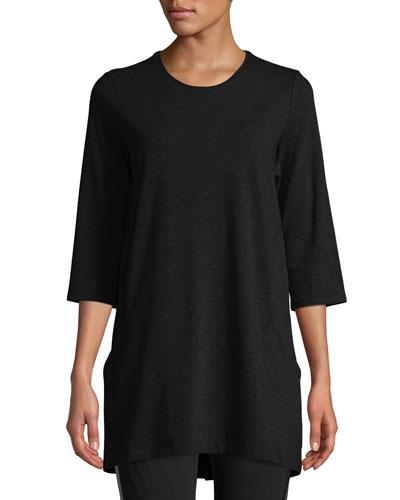 Petite Half-Sleeve Jersey Tunic w/ Pockets