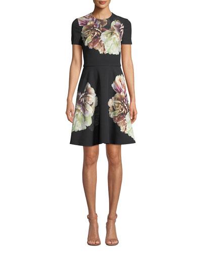 7ee36562d Full Skirt Silhouette Dress | Neiman Marcus