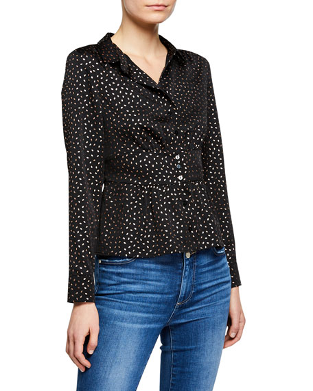 ba&sh Glorio Printed Button-Front Shirt