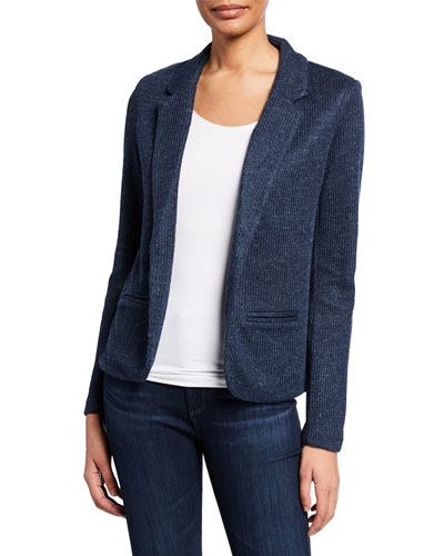 Textured Linen Knit Blazer