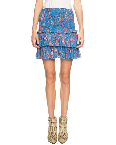 8a5c88564df37 Quick Look. Etoile Isabel Marant · Naomi Smocked Floral Tiered Mini Skirt