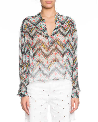 21bb33e00 Fitted Sheer Top | Neiman Marcus