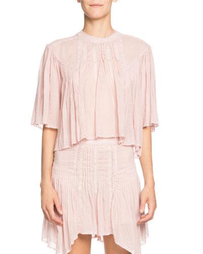 671bca4446519b Quick Look. Etoile Isabel Marant · Algar Embroidered Flowy Short-Sleeve Top