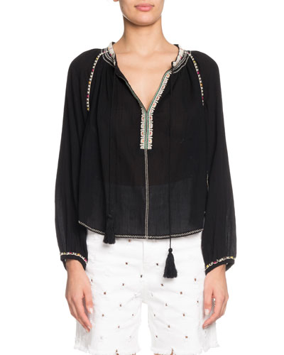 a24af6955307c Quick Look. Etoile Isabel Marant · Rina Embroidered Cotton ...