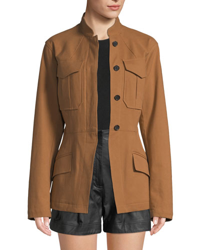 Milo Belted Button-Front Jacket