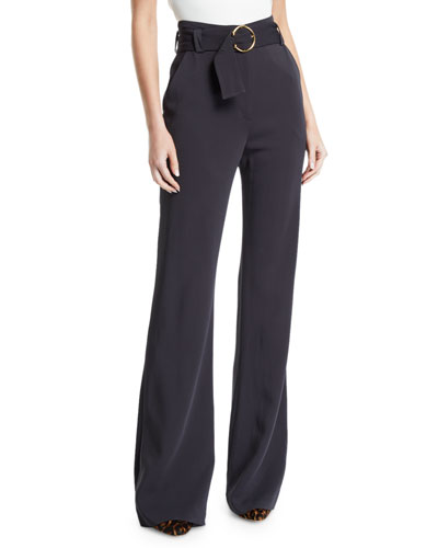 Warner Belted Wide-Leg Pants