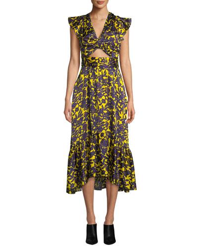 e743c888ee2 Contemporary Floral Print Silk Dress | Neiman Marcus