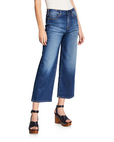 Silene High-Rise Cropped Wide-Leg Jeans