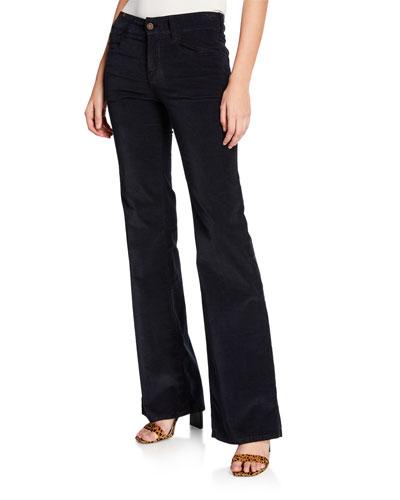 Dahlia High-Rise Velvet Flare Jeans