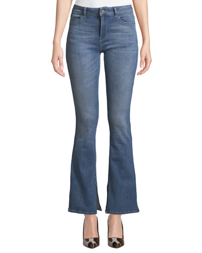 Bridget Mid-Rise Boot-Cut Jeans
