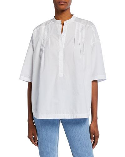 6fd92257b24109 Banded Hem Cotton Top