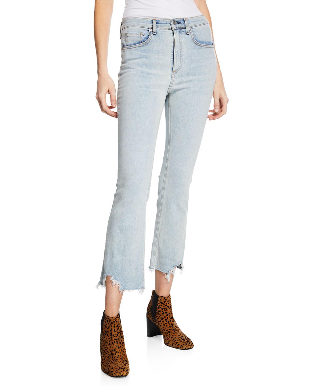 Hana High-Rise Cropped Straight-Leg Jeans in Clean Lynn