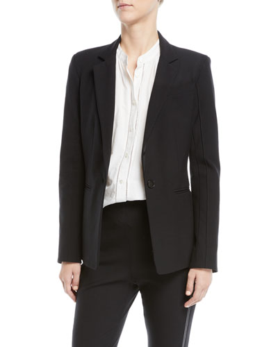 Bowery Single-Button Stretch Twill Blazer