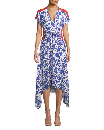 b88d414cd9f Quick Look. PINKO · Floral Twist-Front Asymmetrical Midi Dress