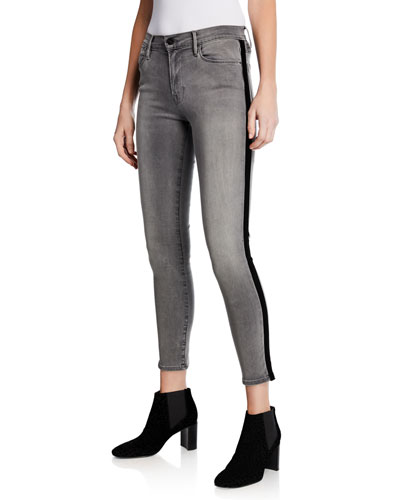 Le High Skinny Velvet Tux Ankle Jeans