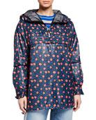IENKI IENKI Hooded Anorak Jacket w/ Zip Pocket