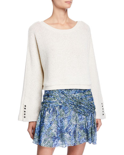 Maxwell Cropped Long-Sleeve Top