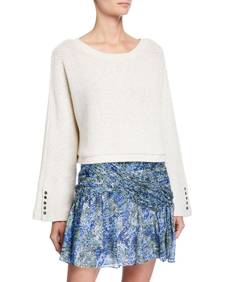 Ramy Brook Maxwell Cropped Long-Sleeve Top