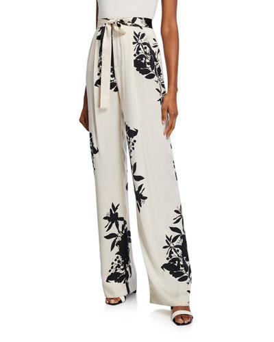Evonne Printed High-Rise Trousers