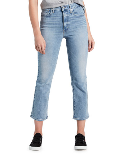 Mile High Cropped Flare-Leg Jeans