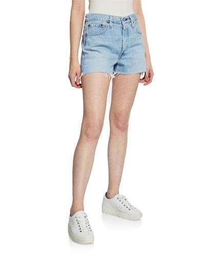 501 High-Rise Cutoff Denim Shorts