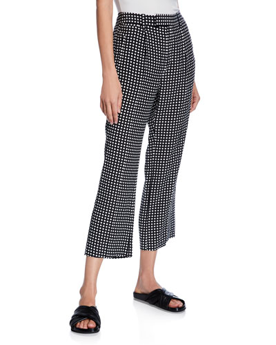 Bergen Cropped Check Pants