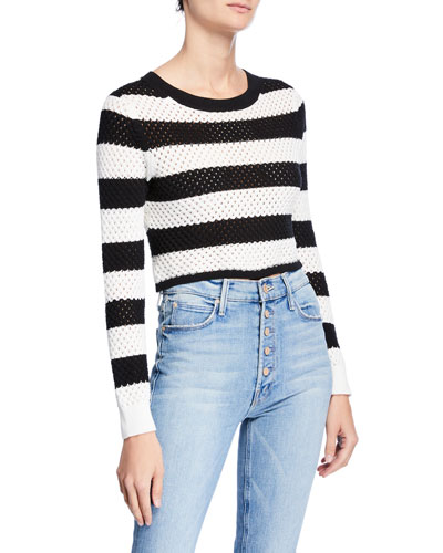 Margaret Cropped Cotton Pullover Top