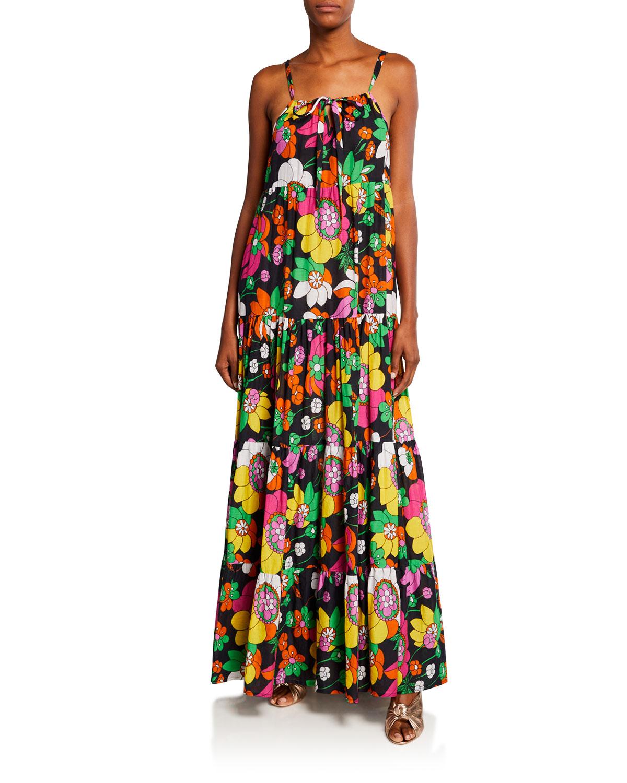 Dodo Bar Or DOROTHY TIERED FLORAL-PRINT MAXI DRESS