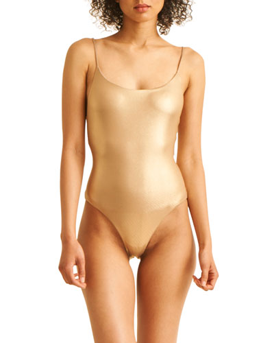 The Sloane High-Cut Maillot One-Piece Swimsuit