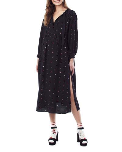 Nursing Ali Arrow-Print Dress