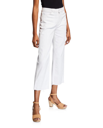 Nellie Cropped Raw-Edge Culottes