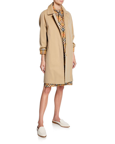 6de088afa3a Quick Look. Burberry · Camden Car Coat w  Check Lining. Available in Beige